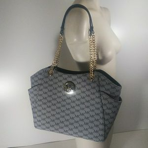 Michael Kors Large Chain Shoulder Tote